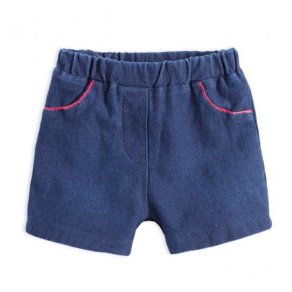Dojčenské dievčenské šortky KNOT SO BAD BABY tmavomodré