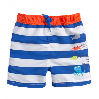 Chlapčenské krátke nohavice KNOT SO BAD SEA WORLD modrý prúžok