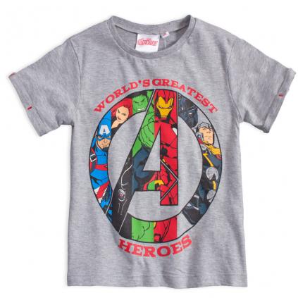 Chlapčenské tričko AVENGERS  GREATEST HEROES šedé