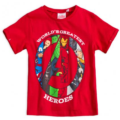 Chlapčenské tričko AVENGERS  GREATEST HEROES červené