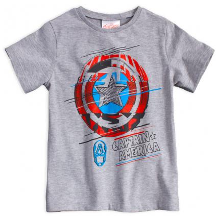 Chlapčenské tričko AVENGERS CAPTAIN AMERICA šedé