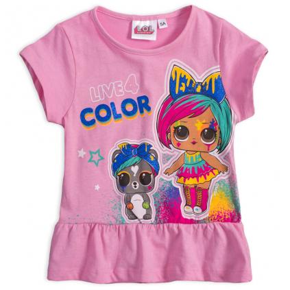 Dievčenské tričko L.O.L.SURPRISE COLOR svetloružové