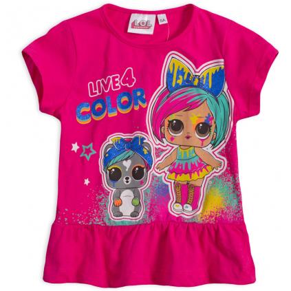 Dievčenské tričko L.O.L.SURPRISE COLOR tmavoružové