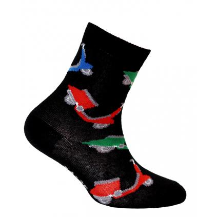 Chlapčenské ponožky GATTA SKÚTRE čierne