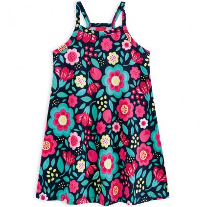 Dievčenské letné šaty KYLY BIG FLOWERS modré