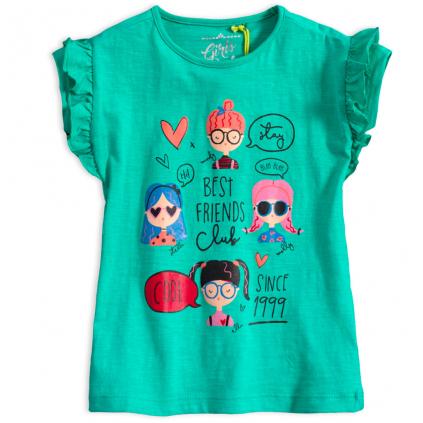 Dievčenské tričko  LEMON BERET COOL FRIENDS zelené