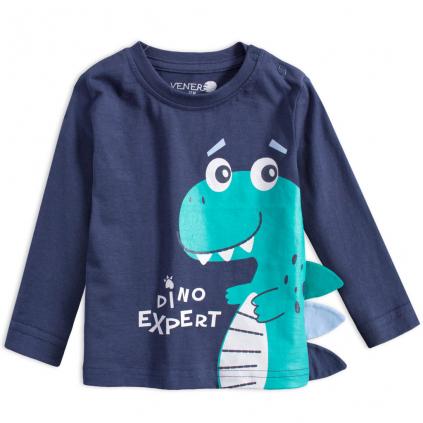 Dojčenské chlapčenské tričko VENERE DINO modré