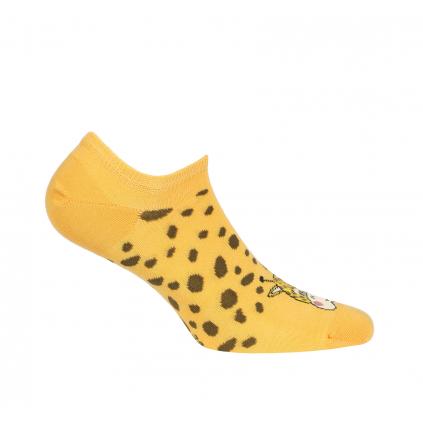 Dievčenské členkové ponožky WOLA ŽIRAFA oranžové