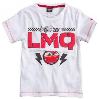 Chlapčenské tričko DISNEY CARS FULL RACE biele