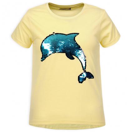 Dievčenské tričko GLO STORY DELFÍN žlté