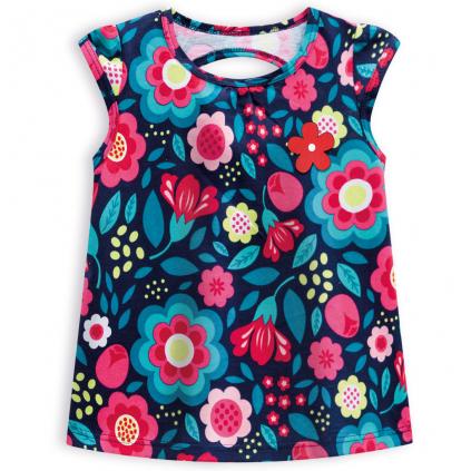 Dievčenský top KYLY BIG FLOWERS modrý