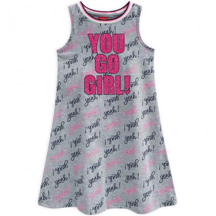 Dievčenské šaty KYLY YOU GO šedé