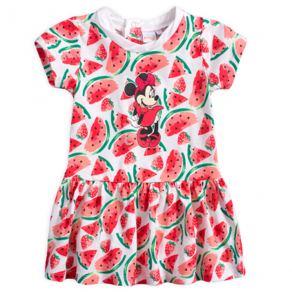 Letné šaty pre dievčatá DISNEY MINNIE FRUIT biele