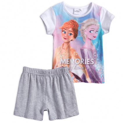 Dievčenské pyžamo DISNEY FROZEN MEMORIES biele
