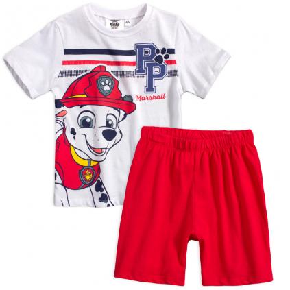 Chlapčenské pyžamo PAW PATROL MARSHALL biele