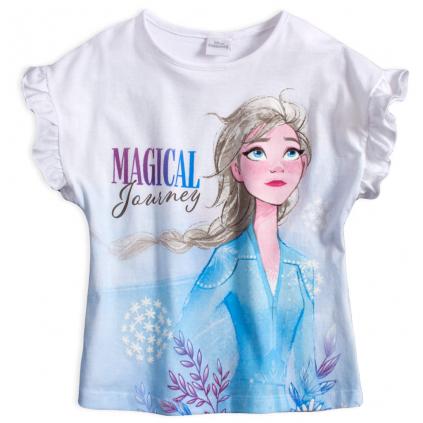 Dievčenské tričko DISNEY FROZEN MAGICAL JOURNEY biele