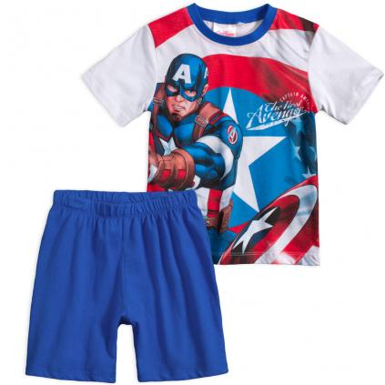 Chlapčenské pyžamo AVENGERS CAPTAIN AMERICA modré