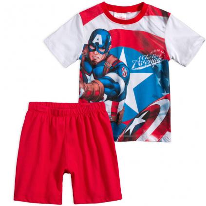 Chlapčenské pyžamo AVENGERS CAPTAIN AMERICA červené