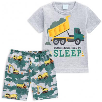 Chlapčenské pyžamo KYLY NÁKLADIAK šedé