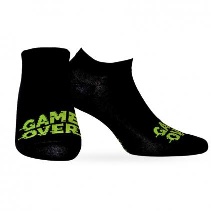 Chlapčenské členkové ponožky WOLA GAME OVER čierne