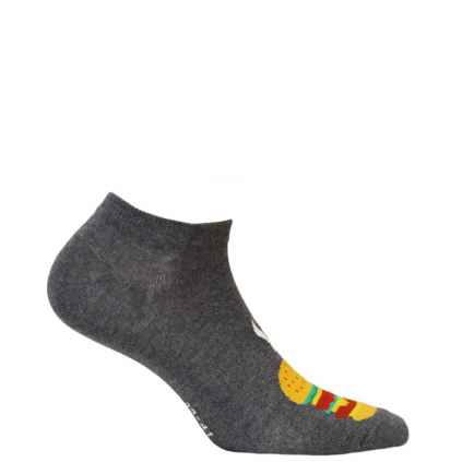 Chlapčenské členkové ponožky WOLA BURGER šedé