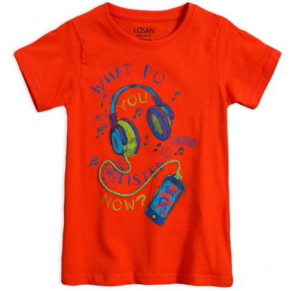 Chlapčenské tričko LOSAN MUSIC oranžové