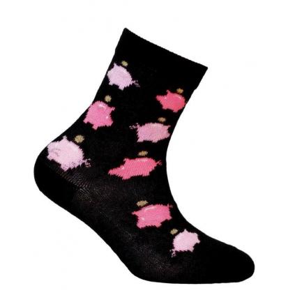 Dievčenské ponožky GATTA POKLADNIČKA čierne