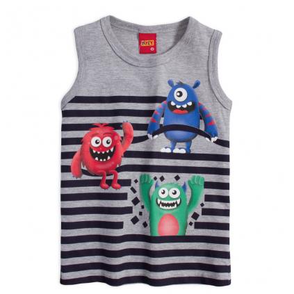Chlapčenské tričko KYLY MONSTERS šedé