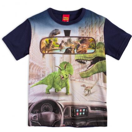 Chlapčenské tričko KYLY DINO STREET modré
