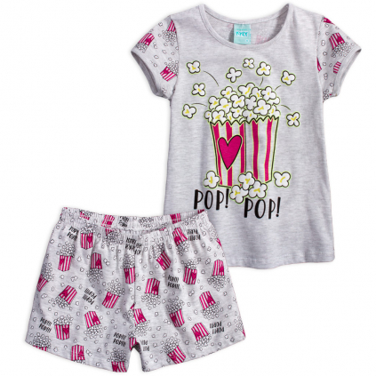 Dievčenské pyžamo KYLY POP šedé