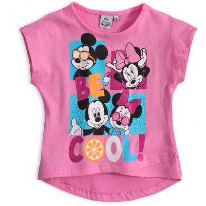 Dievčenské tričko DISNEY MINNIE BE COOL ružové