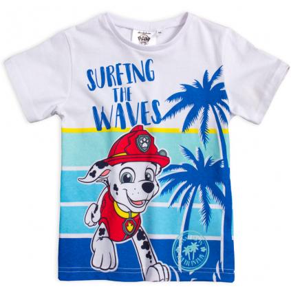 Chlapčenské tričko PAW PATROL SUNNY DAY modrá potlač