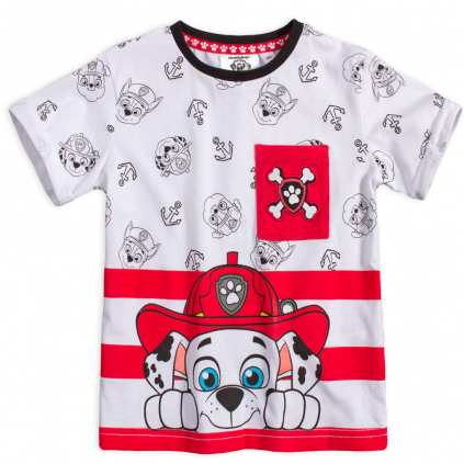 Chlapčenské tričko PAW PATROL ANCHOR červená