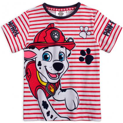 Chlapčenské tričko PAW PATROL MARSHALL červené