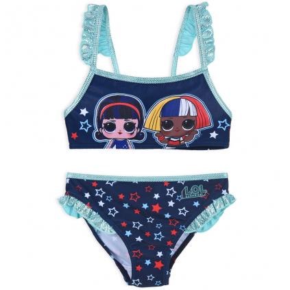 Dievčenské plavky L.O.L.SURPRISE STARS modré