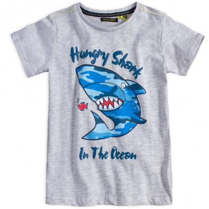Chlapčenské tričko LEMON BERET ŽRALOK šedé
