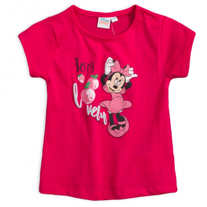 Dievčenské tričko DISNEY MINNIE BERRY červené