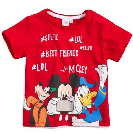 Chlapčenské tričko MICKEY MOUSE BEST FRIENDS červené