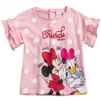 Dievčenské tričko DISNEY MINNIE a DAISY ružové