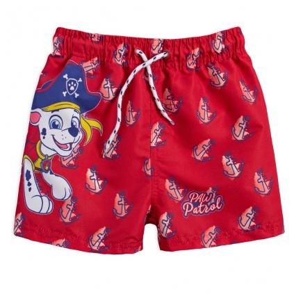 Chlapčenské kúpacie šortky PAW PATROL PIRÁT červené