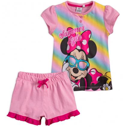 Dievčenské pyžamo DISNEY MINNIE SUMMER STYLE ružová pink