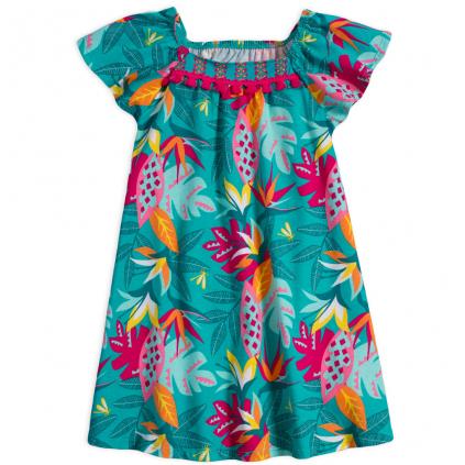 Dievčenské šaty NANAI HOPE zelené