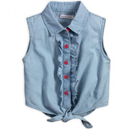 Dievčenský košeľový top LEMON BERET LIZZ modrý