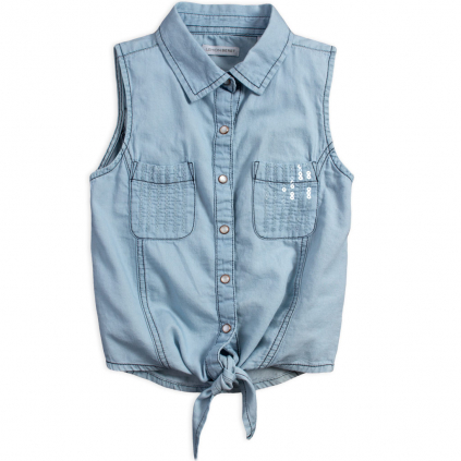 Dievčenský košeľový top LEMON BERET JUNE modrý
