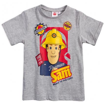 Chlapčenské tričko FIREMAN SAM WATER ON šedé