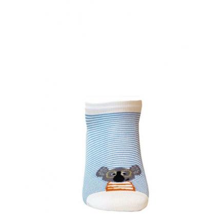 Detské členkové ponožky WOLA KOALA biele