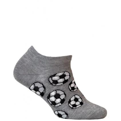 Chlapčenské členkové ponožky WOLA FUTBAL šedé