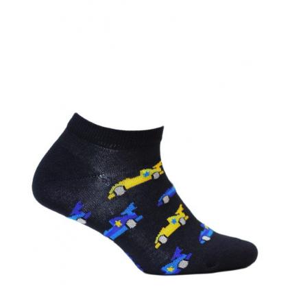 Chlapčenské členkové ponožky WOLA FORMULA modré