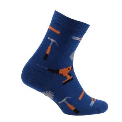 Chlapčenské vzorované ponožky WOLA NÁRADIE modré