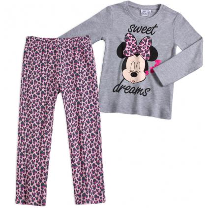 Dievčenské pyžamo DISNEY MINNIE SWEET DREAMS šedé